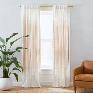 West Elm Echo Print Curtains 48x108 inches